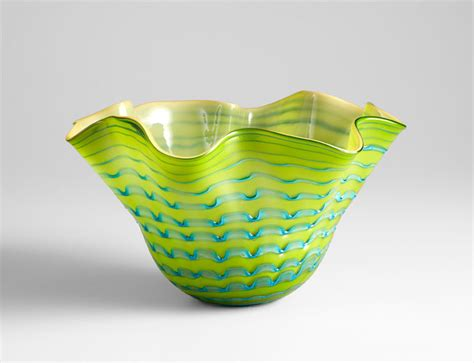 large glasgow glass bowl by cyan design
