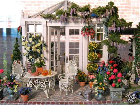 doll house garden blukatkraft dollhouse miniatures conservatory and garden