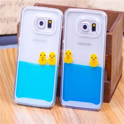 Hardcase 3d Iphone 6 for iphone 5s 3d flowing liquid swimming duck transparent for iphone 5 se 6 6s 6