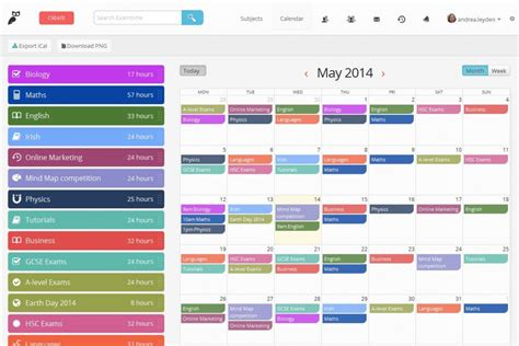 online planner free create a revision timetable with examtime s new study tool