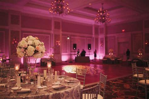 Wedding Uplighting by Waldorf Astoria Orlando Wedding Venue Pink Wash Uplighting