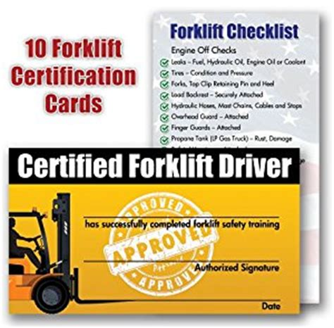 forklift operator certification card template forklift certification cards package