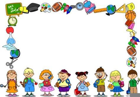 clipart bambini a scuola cornici clipart scuola free images at clker vector