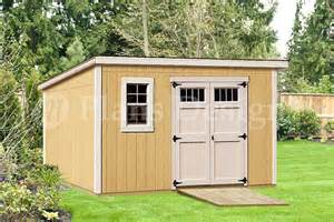 Modern roof style 8 x 12 deluxe shed plans d0812m material list