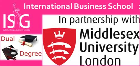Ma International Policy Studies Mba Dual Degree by Cooperation Of Middlesex And Isg