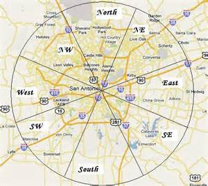 san antonio city map where is the nw side are you sure san antonio alamo