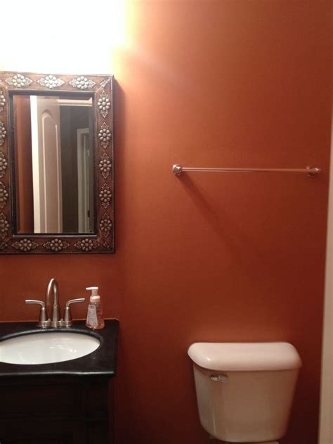 bathroom paint jobs half bath terra cotta paint job home sweet home pinterest