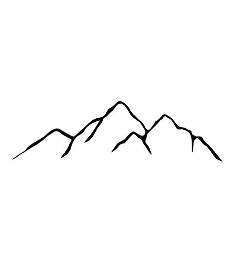 mountain outline tattoo image result for simple mountain back
