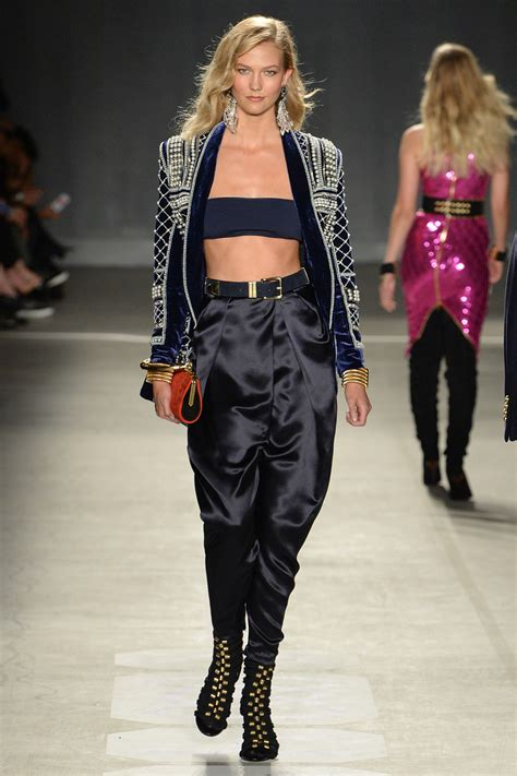 Snaps For Catwalk by Model Karli Kloss Walks The Runway For The Balmain X H M