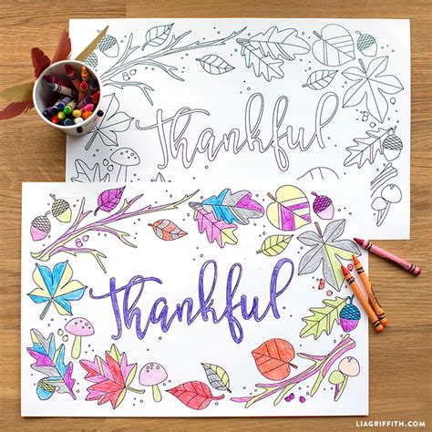 thanksgiving coloring placemats thanksgiving coloring placemats lia griffith