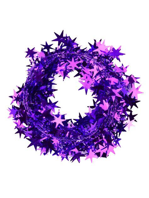 wired garland purple wired garland 7 6m decorations