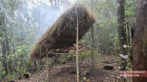 Hutte Primitive by How To Construct A Raised Bed Shed Shelter Using Only