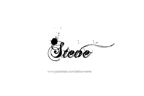 steve name tattoo designs by steve pictures to pin on tattooskid