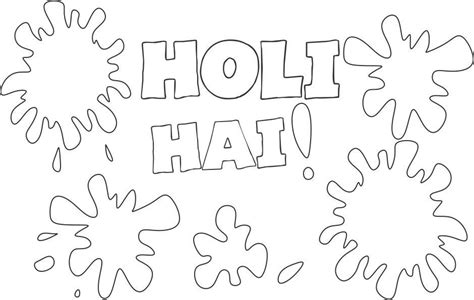Happy Holi Coloring Printable Page For Kids Holi Colouring Pages
