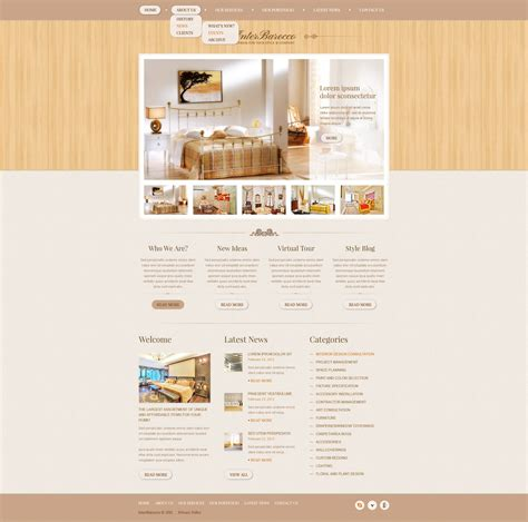 interior design drupal template 38045