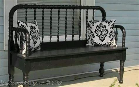 bed into bench repurposed bed into bench diy pinterest