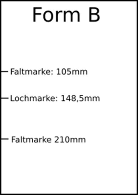 Offiziellen Briefbogen Briefbogen Faltmarken Lochmarken Position Wo Wie Falten