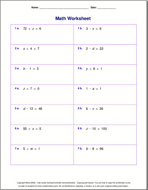 Math Equations Worksheets by Search Results For Fraction Problems For 7th Grade