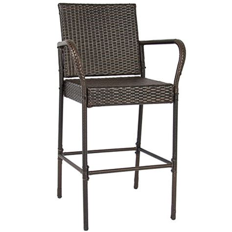 wicker top bar stools best choice products set of 2 outdoor brown wicker