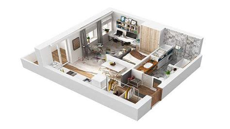 40 sq meters to 40 square meter apartment design in rome 3d