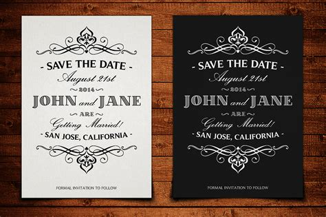 Save The Date Postcard Template V 1 Invitation Templates On Creative Market Save The Date Announcement Template