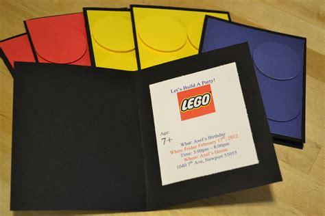 Lego Themed Invitation Card