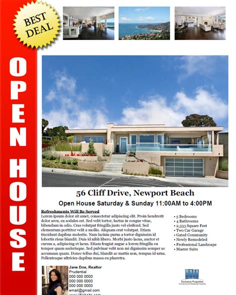 real estate open house flyer by tunagaga graphicriver