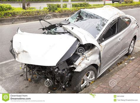 wrecked car wrecked car accident stock image cartoondealer com 44946829