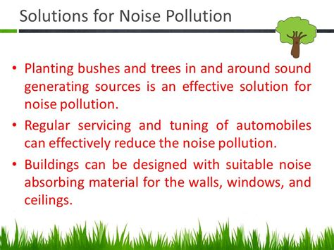 Of Noise Noise Pollution It S Sustainable Solution Ppt