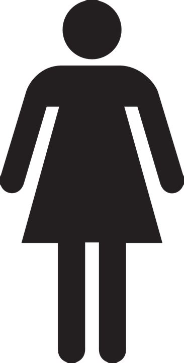 woman bathroom symbol free vector graphic female woman stick figure symbol