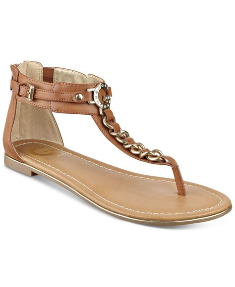 sandals guess g by guess daniel t flat sandals in brown lyst