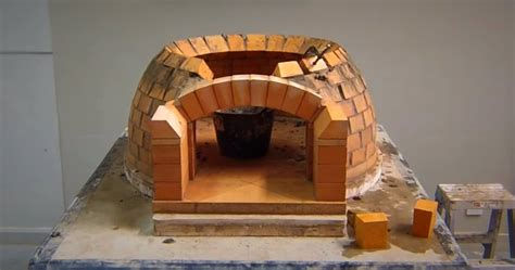 diy   build  wood fired brick pizzaoven