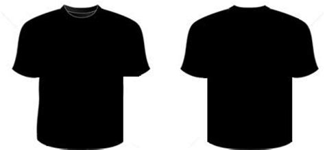 front and back black t shirt template stock photo silkscreen series black and white realistic