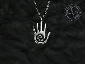 hopi hand pendant symbol stainless steel hopi hand