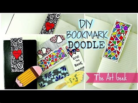 mini doodle bookmark diy 7 doodle bookmarks pakfiles