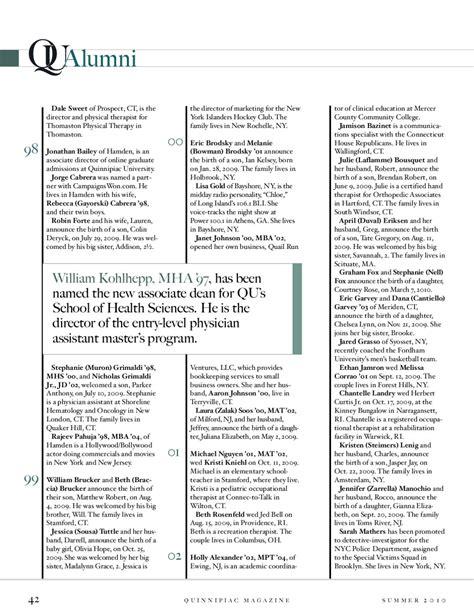 Quinnipiac Mba Program Marketing by Quinnipiac Magazine Summer 2010 By Quinnipiac