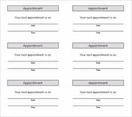appointment cards templates free info appointment card template