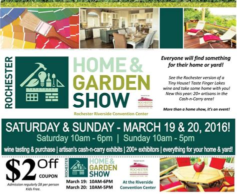 rochester home show  saturday  sunday