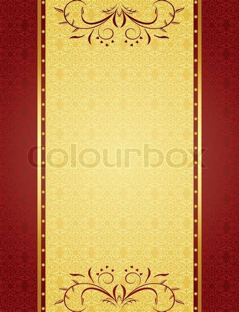 Invitation Letter Vector Gold Background For Design Of Cards And Invitation Vector