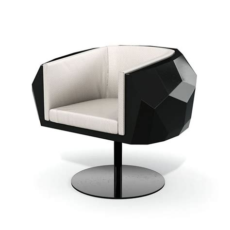 Black And White Armchair Black And White Modern Armchair 39 Am121 3d Model
