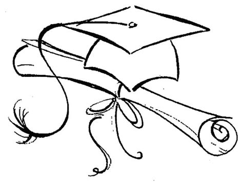 Graduation Cap And Gown Coloring Pages Coloring Pages Ideas Graduation Cap And Gown Coloring Pages
