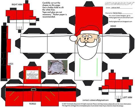 Santa Papercraft - santa cut out template coloring page lonestarff