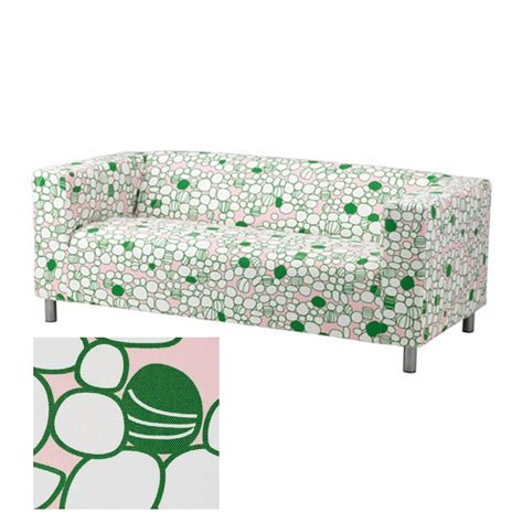 retro couch covers ikea klippan sofa slipcover cover green pink mod retro