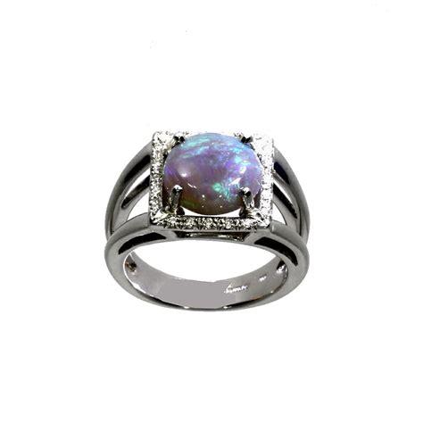 18ct white gold opal ring nicholas wylde
