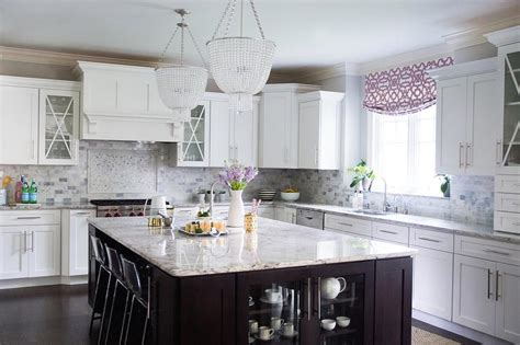 Purple Kitchen Wallpaper by White Granite Countertops Transitional Collection 15