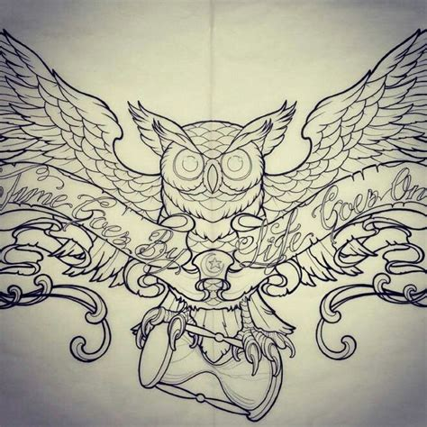 owl with hourglass tattoo ink pinterest hourglass