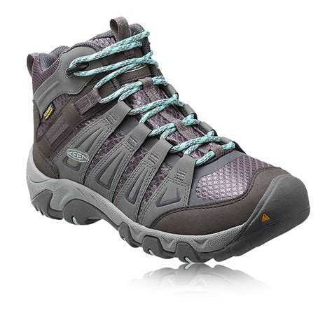 keen oakridge mid womens grey waterproof walking trekking