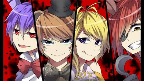 freddys at five nights anime newhairstylesformen2014com five nights at freddy si fuera anime youtube