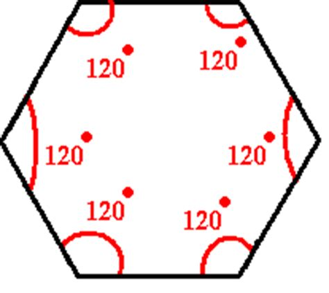 Interior Angle Of A Hexagon by Angle Measure Of A Hexagon Solve Math Easily