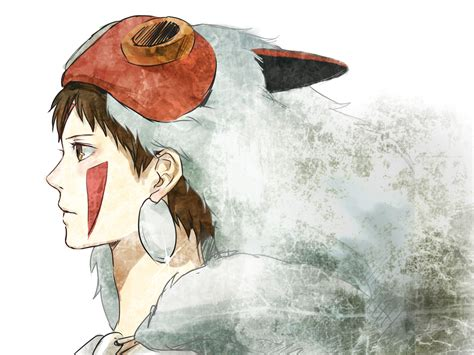 mononoke hime san mononoke hime wallpaper zerochan anime image board